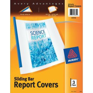 Avery Sliding Bar Report Cover