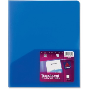Avery® Translucent Two Pocket Folders