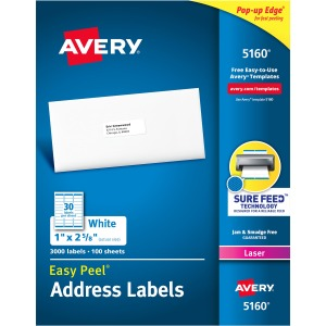 Avery® Easy Peel® Address Labels with Sure Feed™ Technology