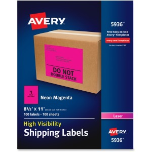 Avery® Neon Shipping Labels