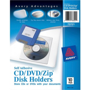 Avery® Self-Adhesive CD/DVD/Zip Pockets