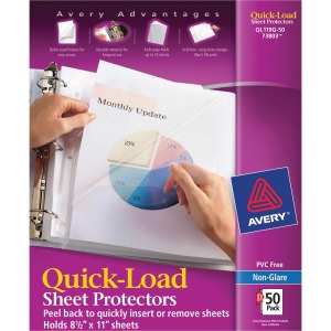 Avery® Quick-Load Sheet Protectors