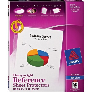 Avery® Non-Glare Heavyweight Sheet Protectors