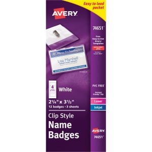 Avery&reg Clip Style Name Badges