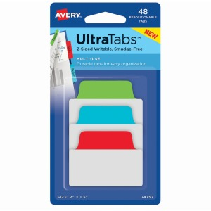 Avery® Multiuse Ultra Tabs - 2-Side Writable - Repositionable