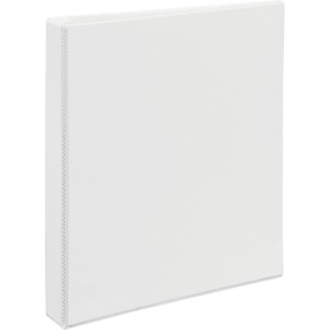 "Avery® Heavy-Duty View 3 Ring Binder, 1"" One Touch EZD(R) Ring, Holds 8.5"" x 11"" Paper, White (79199)"