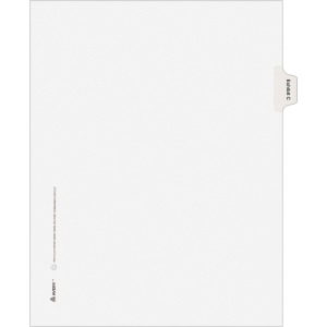 Avery® Individual Legal Dividers Allstate(R) Style, Letter Size, Side Tab EXHIBIT C (82109)