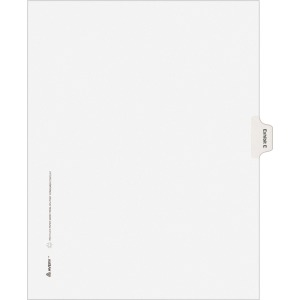 Avery® Individual Legal Dividers Allstate(R) Style, Letter Size, Side Tab EXHIBIT E (82111)