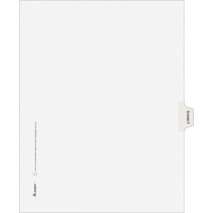 Avery® Individual Legal Dividers Allstate(R) Style, Letter Size, Side Tab EXHIBIT F (82112)