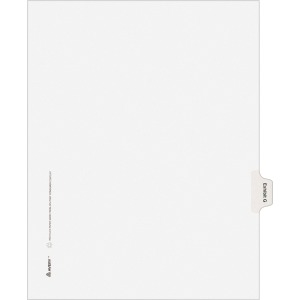 Avery® Individual Legal Dividers Allstate(R) Style, Letter Size, Side Tab EXHIBIT G (82113)
