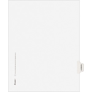 Avery® Individual Legal Dividers Allstate(R) Style, Letter Size, Side Tab EXHIBIT H (82114)