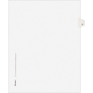 Avery® Individual Legal Dividers Allstate(R) Style, Letter Size, Side Tab #31 (82229)