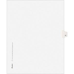 Avery® Individual Legal Dividers Allstate(R) Style, Letter Size, Side Tab #37 (82235)