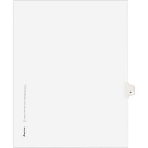 Avery® Individual Legal Dividers Allstate(R) Style, Letter Size, Side Tab #41 (82239)