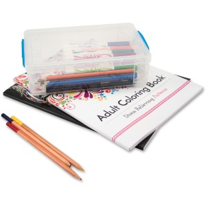 Advantus Clear Large Pencil Box