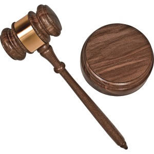 Advantus Brass Engraved Gavel Set