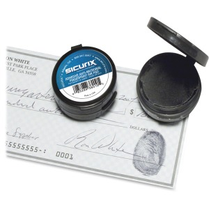 SICURIX Adhesive Fingerprint Ink Pads
