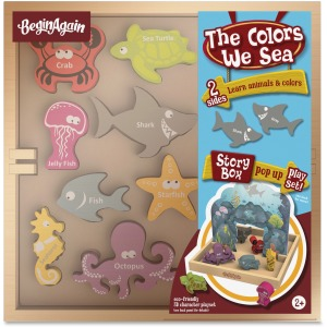 BeginAgain Toys Colors We Sea Story Box