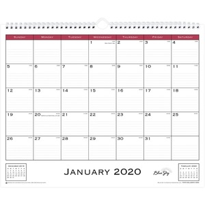 Blue Sky Classic Monthly Wall Calendar