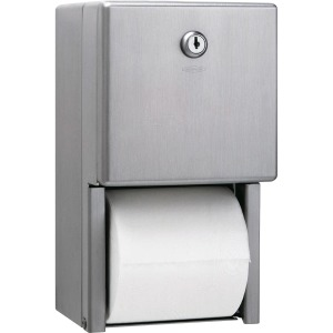 Bobrick Washroom 2-roll Steel Bath Tissue Dispenser