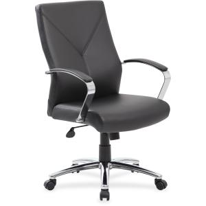 Boss Leatherplus Executive Chair with Chrome Accent
