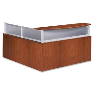 Lorell Reception Desk with Plexiglass