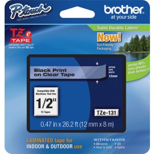 Brother P-touch TZe Laminated Tape Cartridges