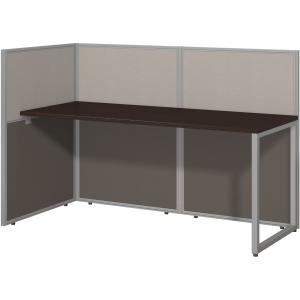 Bush Business Furniture Easy Office 60W Straight Desk Open Office in Mocha Cherry