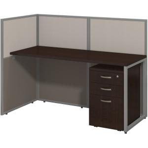 bbf 60W Straight Desk Open Office with 3 Drawer Mobile Pedestal