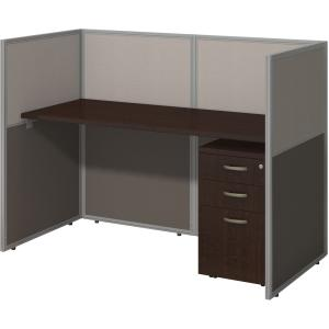 bbf Easy Office 60W Straight Desk Closed Office with 3 Drawer Mobile Pedestal