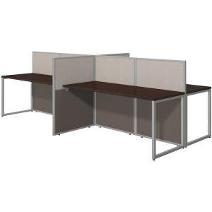 Bush Business Furniture Easy Office 60W 4 Person Straight Desk Open Office