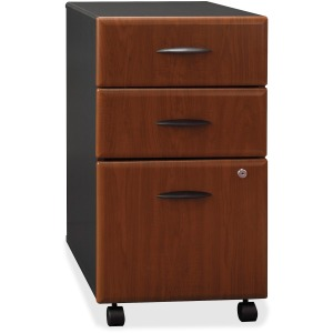 Bush Business Furniture Series A 3 Drawer Mobile Pedestal - Assembled
