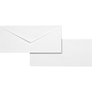 Business Source No. 10 White Wove V-Flap Business Envelopes