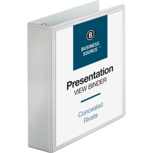 Business Source Round Ring Standard View Binders