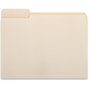 Business Source 1/3 Cut Tab File Folders