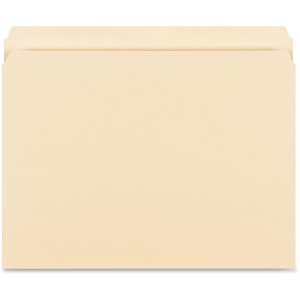 Business Source Straight-Cut 1-ply Tab Heavyweight File Folders