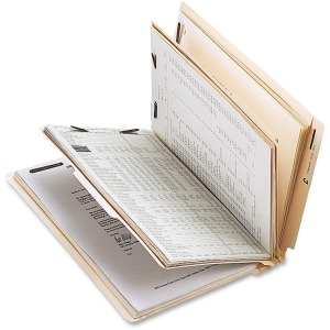 Business Source 6-Part End Tab Classification Folders