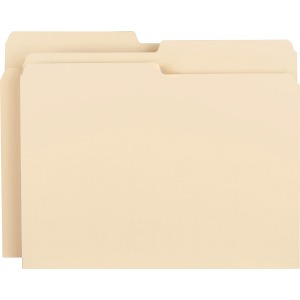 Business Source 1/2-cut 1-ply Top Tab File Folders