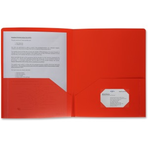 Business Source 2-pocket Poly Portfolio