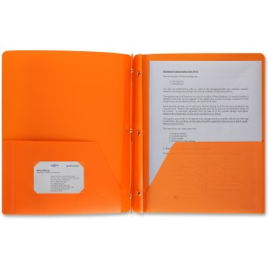 Business Source 3-Hole Punched Poly Portfolios