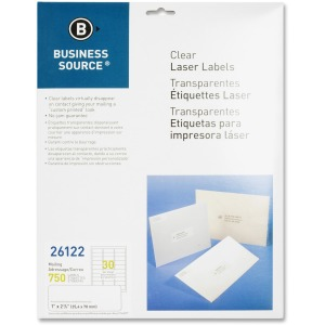 Business Source Clear Laser Print Mailing Labels