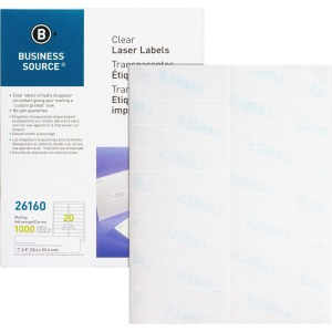 Business Source Permanent Adhesive Laser Labels