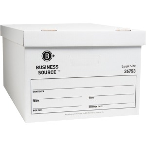 Business Source Lift-off Lid Light Duty Storage Box