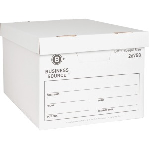 Business Source Lift-off Lid Medium Duty Storage Box