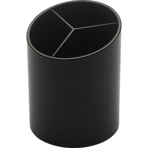 Business Source Large 3-Compartment Plastic Pencil Cup