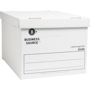 Business Source Quick Setup Medium-Duty Storage Box