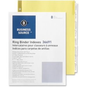 Business Source Insertable Tab Indexes