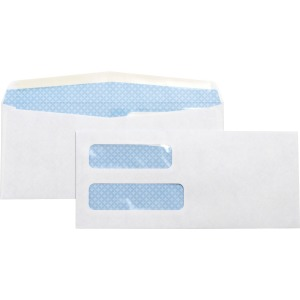 Business Source No. 10 Double-Window Invoice Envelopes