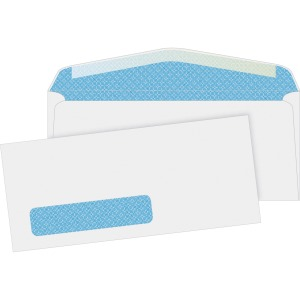 Business Source No. 10 Tinted Diagonal Seam Window Envelopes
