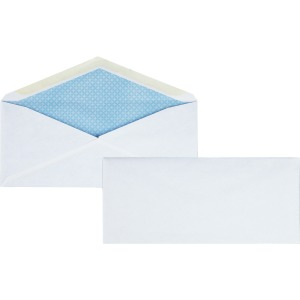 Business Source No.10 Regular Tint Security Envelopes